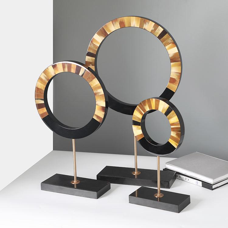 Moderno elegante de alta calidad en forma de anillo de escritorio accesorios de decoración accesorios decorativos para el hogar