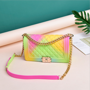 2020 Lady luxury colorful hand bag jelly purse and handbag for women sac a main femme