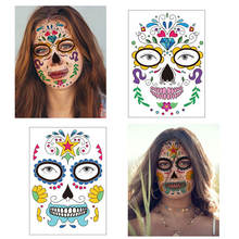 Halloween Funny Face Tattoo Waterproof Stickers