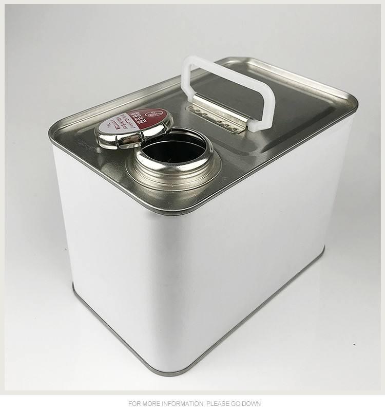 2L/5L/10 л квадратный Металл контейнер из жести барабан Олово Может упаковывать с кольцом клей Химический бак тоньше банок
