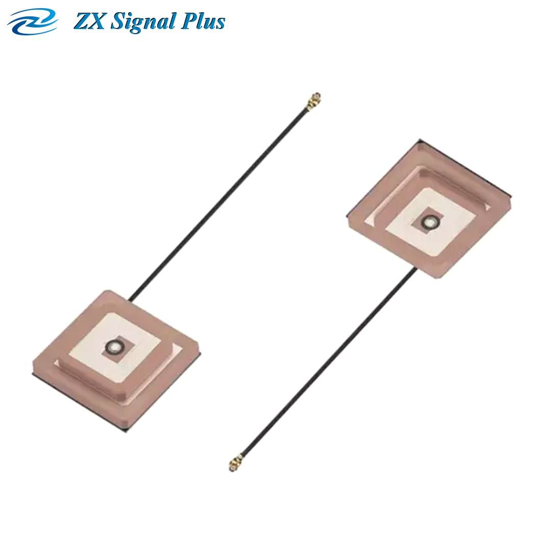 Wholesale 25*25*4mm double tier positive/active IPEX Terminal Ceramic Module built-in GPS Active Antenna with IPEX terminal.