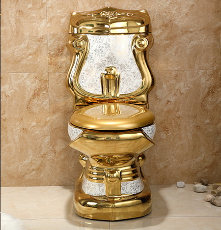 Hot Sale Luxury Golden Washdown Ceramics Sanitary Ware Water Closet Toilet