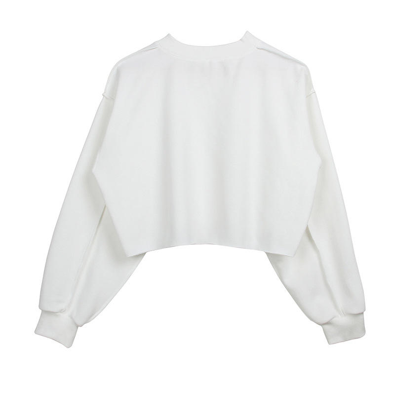 Fashion Pullover Cotton Gym Wholesale Plain Cropped Sweatshirt Women's Hoodies