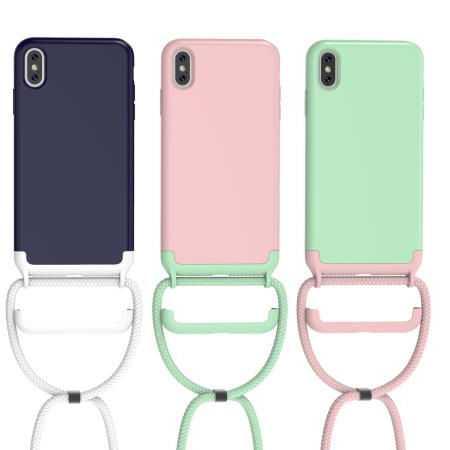 Wholesale Detachable Custom Silicone Luxury Necklace Cell Phone Case Cord Strap Crossbody Mobile Cover Cases