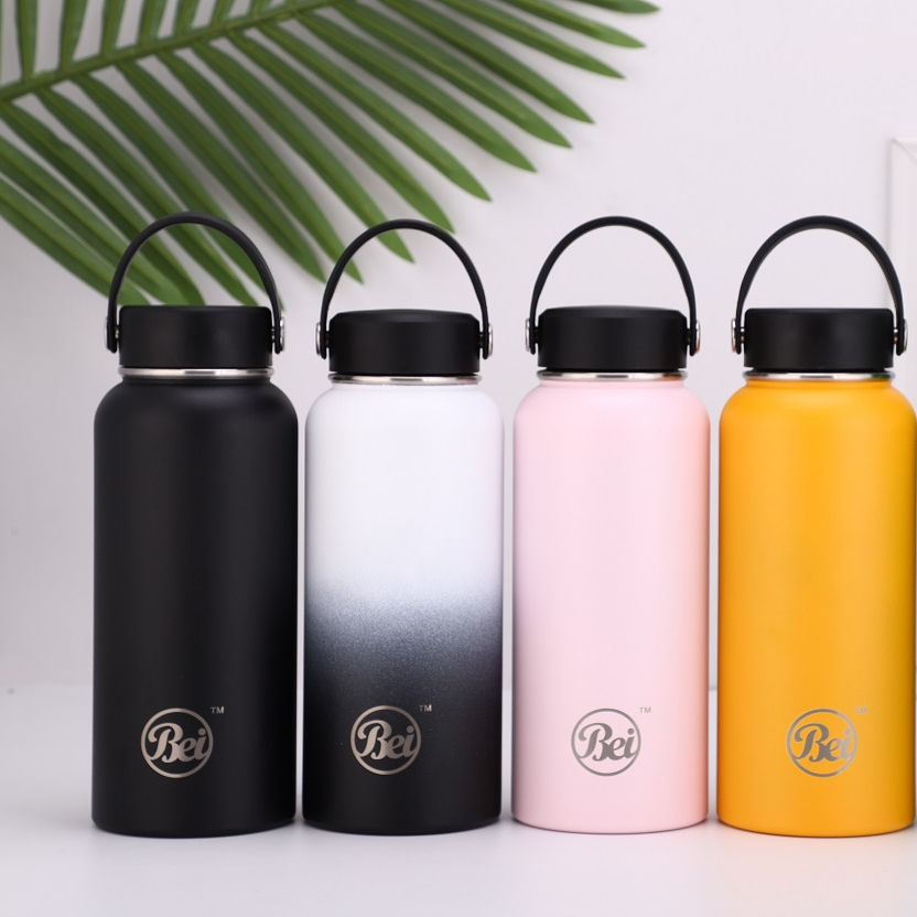 Customized logo printing double wall vacuum flask manufacturer, stainless steel flask vacuum