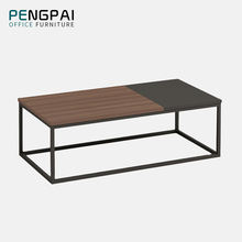 long metal frame assorted color coffee table
