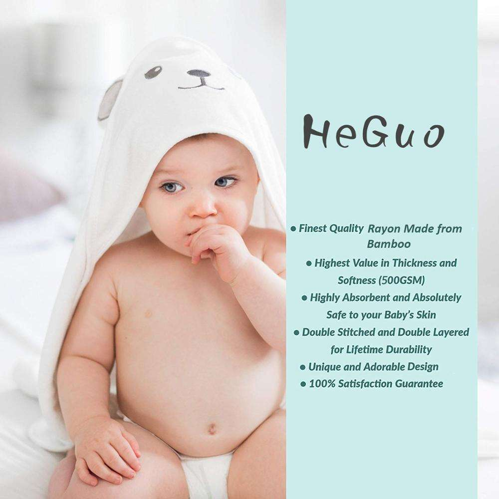 New Born Baby Shower Bath Hooded Towel Cotton Hooded Bath Towels For Babies as Baby Gift