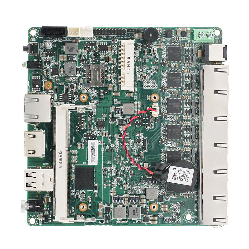 Red thin client mini pc placa base quad core J1900 procesador 6*6 * I211AT puerto lan apoyo pfsense firewall router servidor