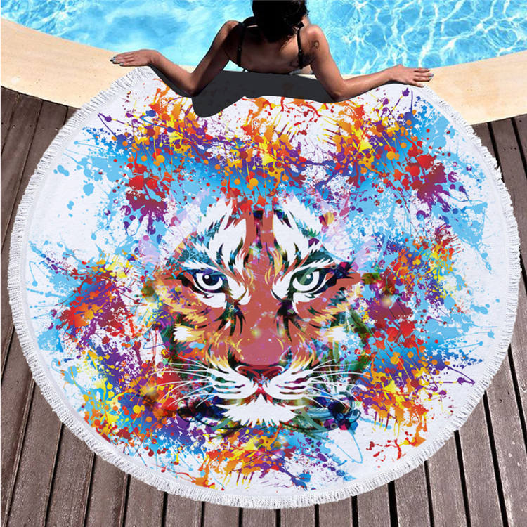 Uchome Cotton Custom Promotional Velour Reactive Printed Beach Towel