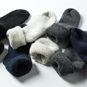 Winter super warm solid wool socks for men with wool and thick terry wool socks