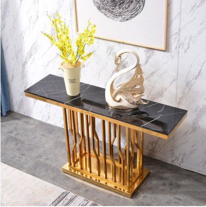 2021 luxury marble top hallway corner console table decorative living room console table