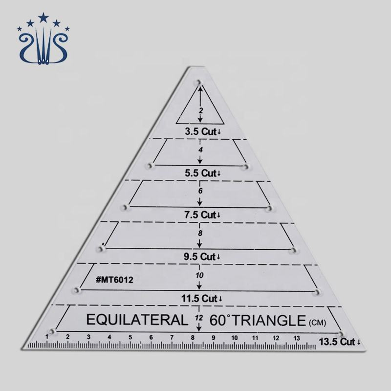Transparent Sewing 60 Degree Equilateral Triangle Ruler for Patchwork Scale Ruler