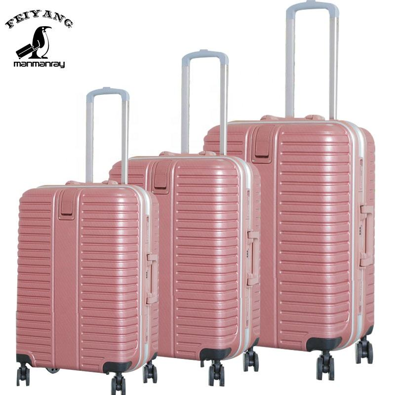 China suppliers cheap price trolley luggage bag sets hard suitcase