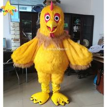 Funtoys CE Big Cock Mascot Costume Yellow Chicken Children Party Halloween Traje Cosplay Performance For Adult