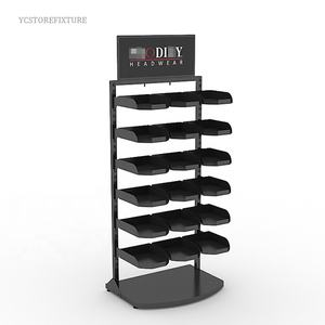 Hat sales retail store cap baseball hat display rack metal