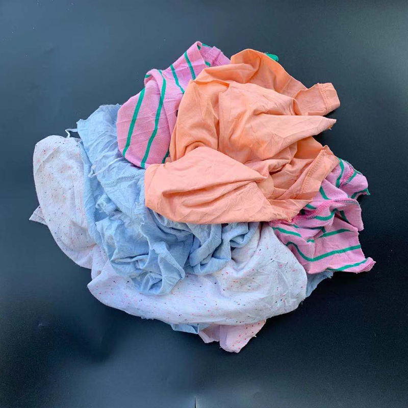 Customized Mix Colors Industrial Cotton Waste Cloth Jinjiang Rags Manufacturer