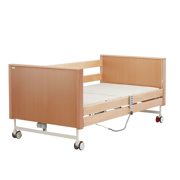 Hospital Type Beds F400 Factory Quality Warranty 5 Function Wood Nursing Care Patient Bed For Home Rehabilitation Hospital