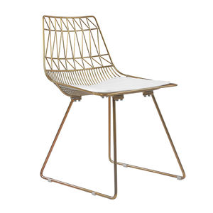 Free Sample Gold Modern Mesh Outdoor Round Dkr Metal Leaf Steel Concrete Stackable Lucy Chairing Dining Side Black Wire Chair