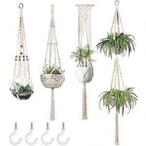 Hand Made Mini Macrame Plant Hanger For Sale Indoor And Outdoor Decor
