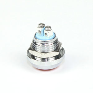 IP67 Motorcycle Dome Colorful Button Sliver Housing 2 Pin Screw Terminal Momentary OFF- ON  Metal Push Switch