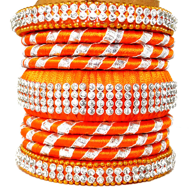 Indian silk Thread Bangle Set Stylish Bollywood Bangle set Indian Silk Thread Colorful Bangles