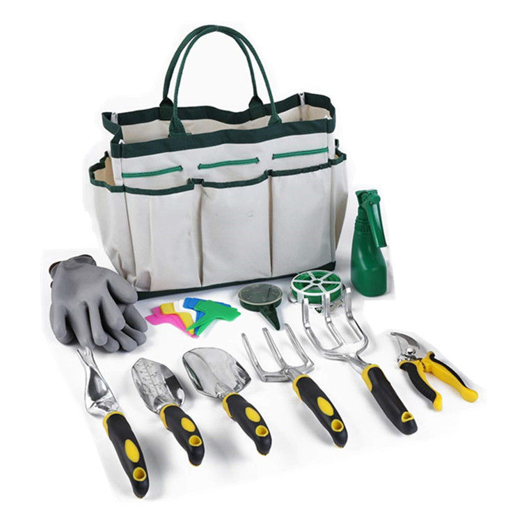 Amazon Hot Sale 12 Pieces Garden Tools Set Heavy Duty Gardening Kit cast Aluminum Tool Set,TOYS0158