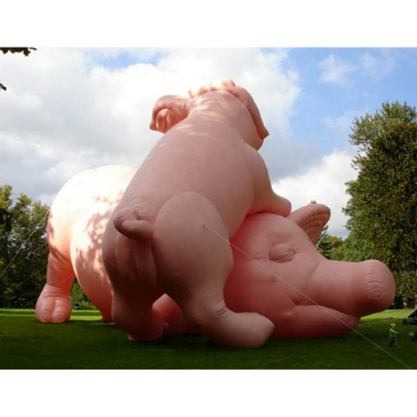 Popular inflatable big pink pig / inflatable cute cartoon pig for advertising event
