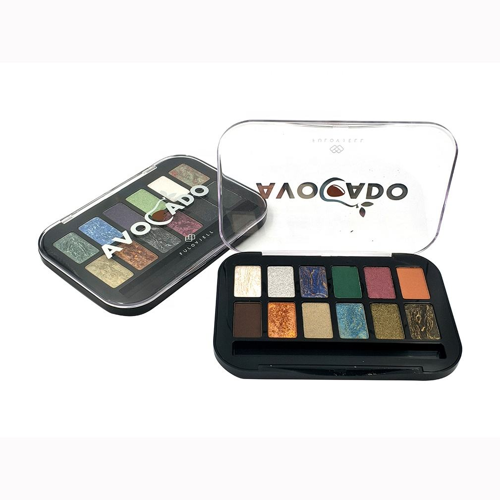 Make Your Own Brand Metallic Shimmer Make up Eye shadow 12 Color make up pallets eye shadow