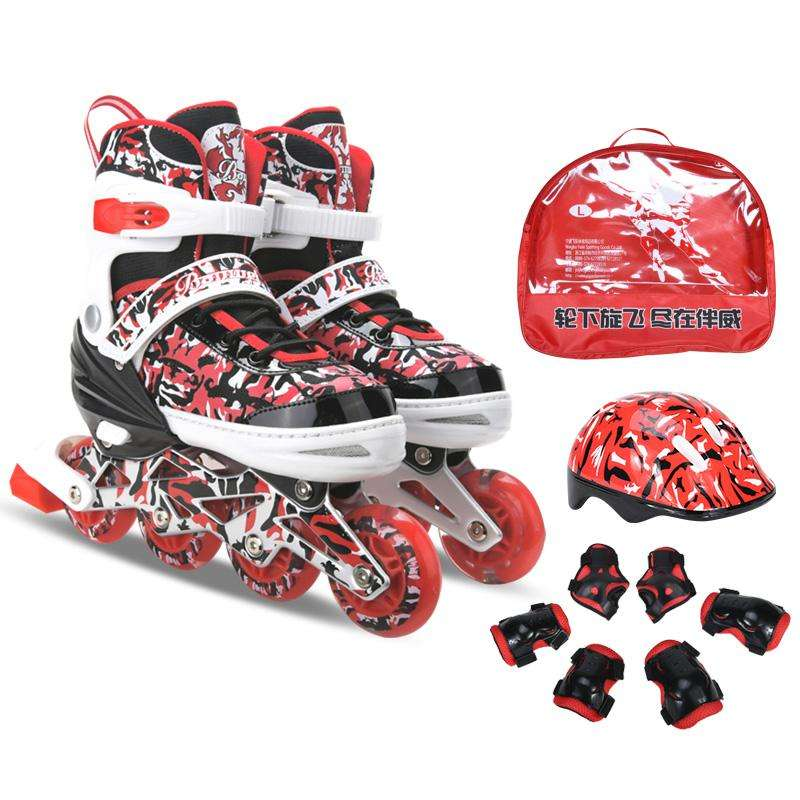 Hot Selling Inline Skate Roller Skate Combo 2020 Inline Speed Skates Boots BW-170,BW-170 Banwei,banwei Red/blue/pink 6 PRS Alum.
