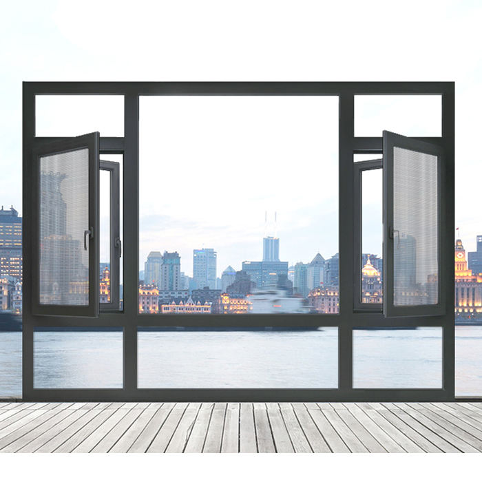 Top 10 supplier thermal break aluminum window and sliding windows with double glass