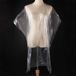 Popular disposable hairdressing cape haircut gown barber cape