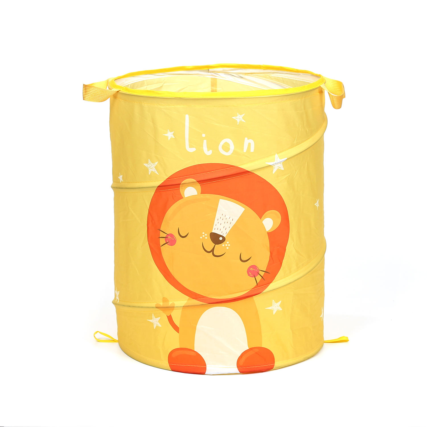 New Design Polyester Collapsible Kids Animal Cute Colorful Laundry Storage Basket Hamper