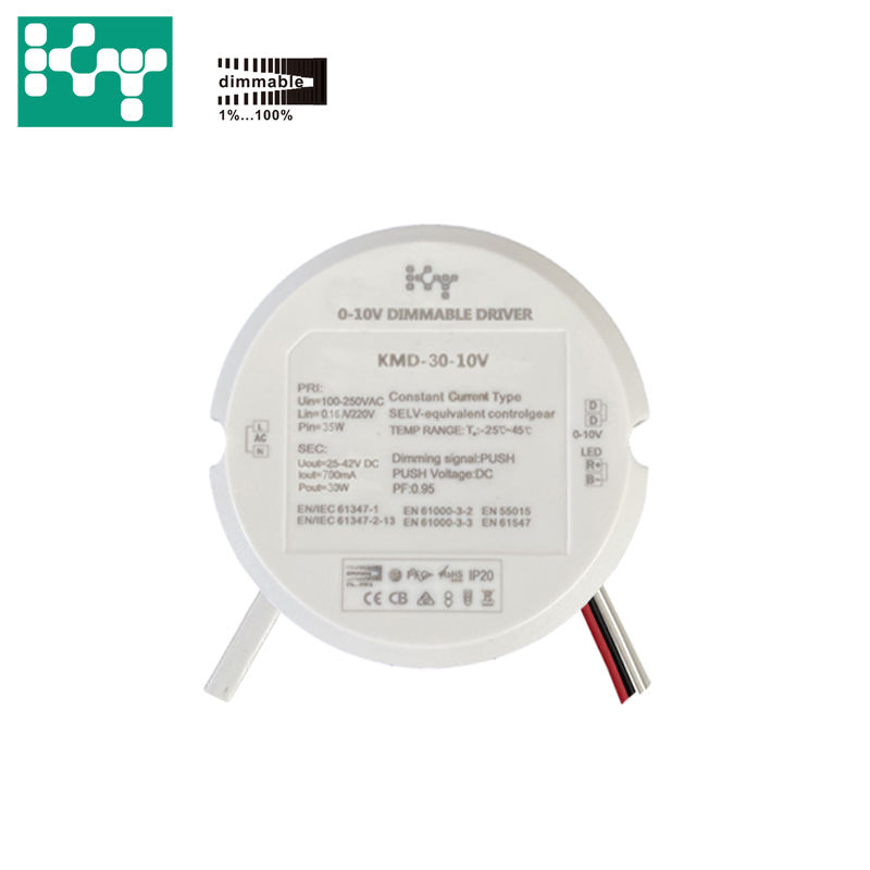 0-10V Dimmable Signal LED Driver 25W 25-42VDC 600mA Indoor Constant Current Power Supply