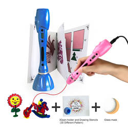 Safe Low Temperature Digital Educational Toys Christmas Gift Graffiti 3d Pen