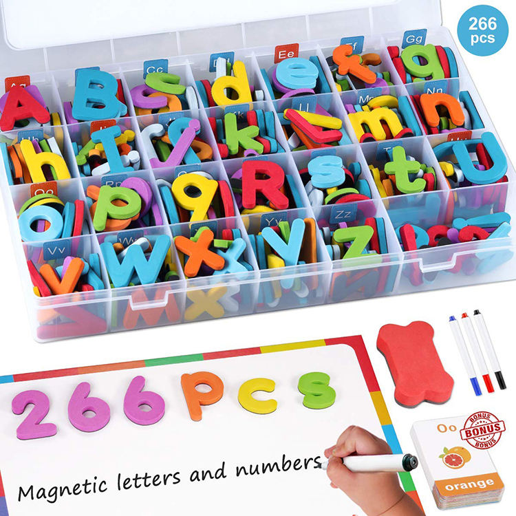 Magnetic letters and numbers with double-side magnet drawing board classroom teaching set