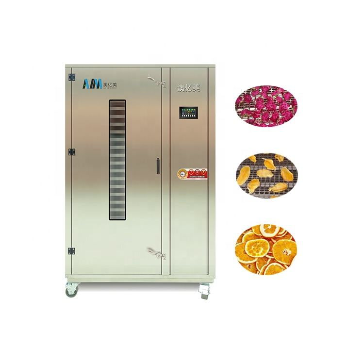 Aim Energy Saving Tray Type Heat Pump Fruit Vegetable Sweet Potatoes Beef Jerky Dehydrator Spieces Fig Dried Drying Machine