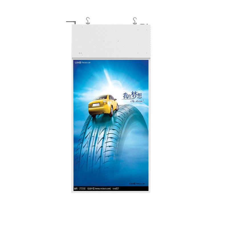 55inch coperta double sided Fissaggio A CRISTALLI LIQUIDI smart digital signage per il negozio di finestra di visualizzazione di pubblicità