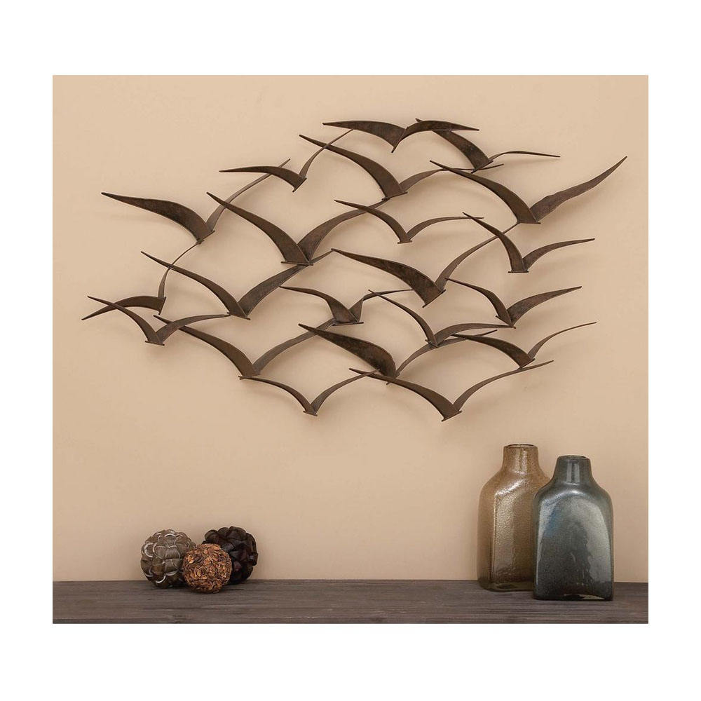 Modern and Smart Flying Birds Custom Metal Antiqui Wall Arts Home Decoration and Home Decor Direct factory Sale Wholesale On Hot