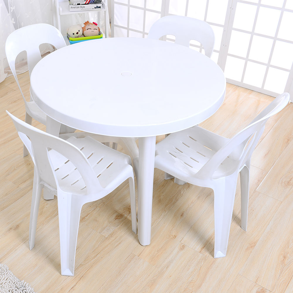 Sale cheap restaurant outdoor round plastic tables and chairs for events