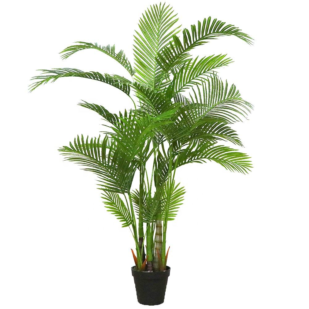 Manufacturing Suppliers 170cm Indoor Outdoor Decorative Plastic Artificial Palm Bonsai Tree Plants in Pot