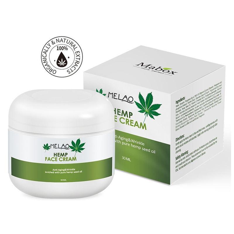 All Natural Organic Óleo de Cânhamo Creme para O Rosto de Private Label