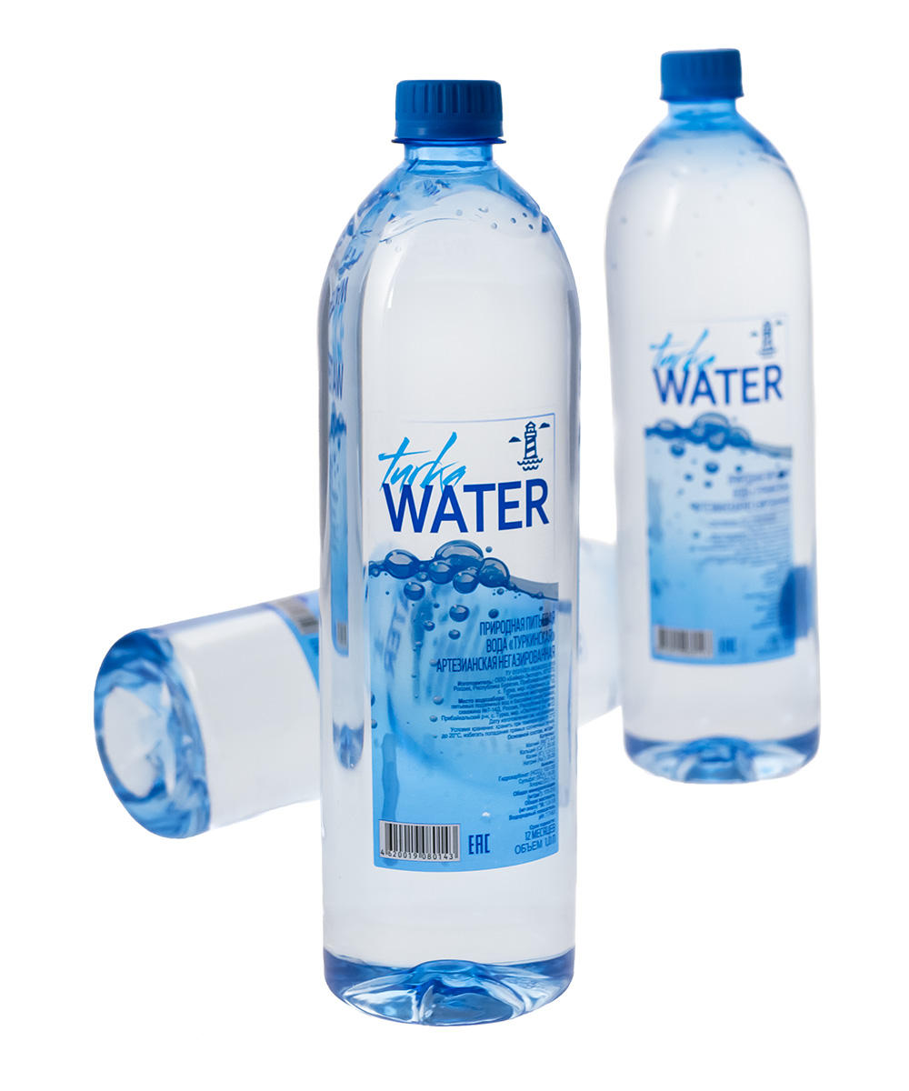 Packaged natural drinking water Turka Water 1 L