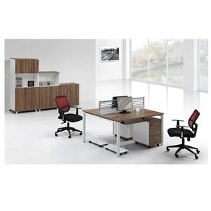 Wooden Furniture Price Glass Wall 2/4/6 Seater Office Partition Workstation