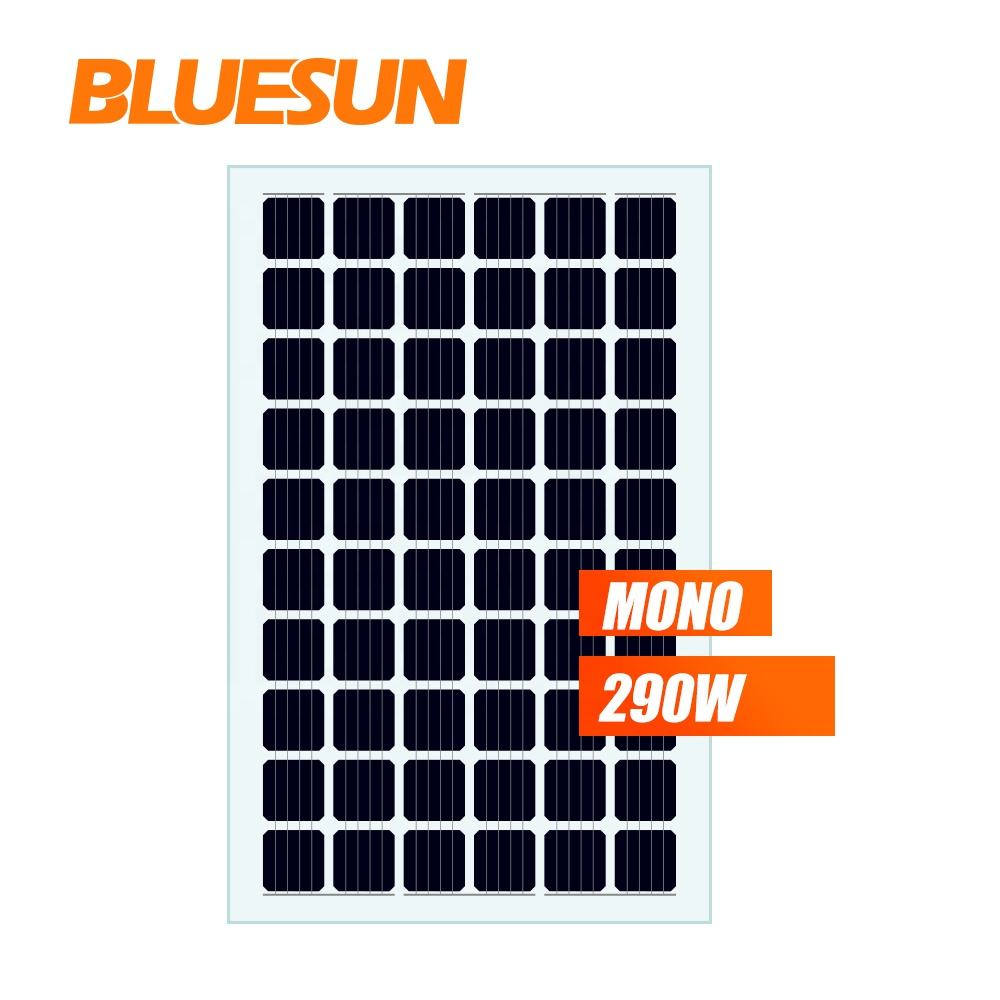 Bluesun double glass transparent BIPV solar PV panel 290w 300w solar panels BIPV for greenhouse