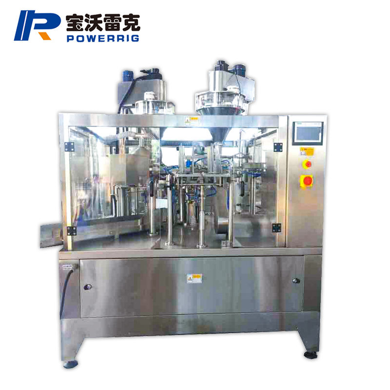High Speed Automatic Rotary Stand up doypack spout Pouch detergent powder Filling Sealing Machine for liquid soap packing