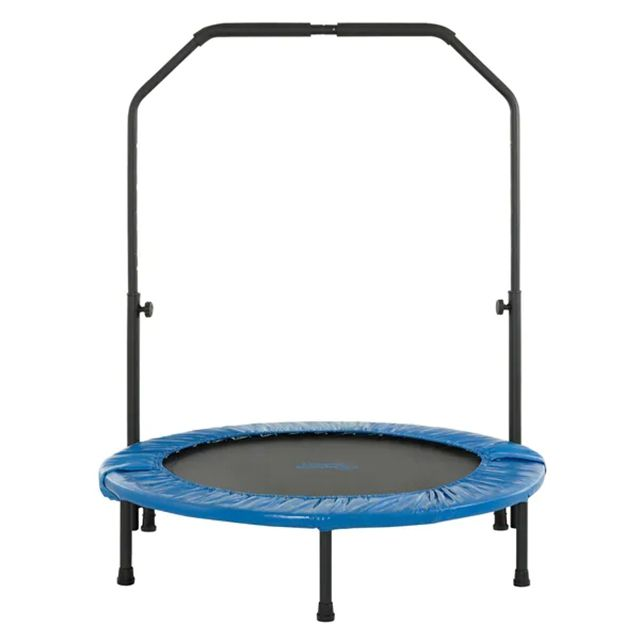 Commercial Indoor Outdoor Foldable Trampoline for Adults Fitness Rebounder with Handle for Parks Palyground
