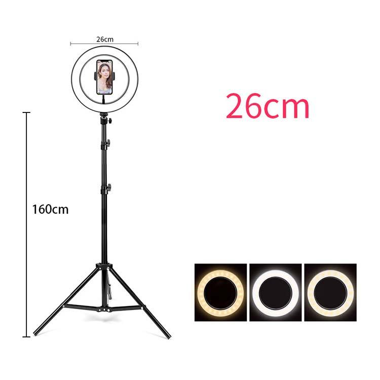 12w Ring Light 10 Inch With Lcd Display Rechargeable Photography Led Ring Light For Makeup Beauty Salon Led Lamp