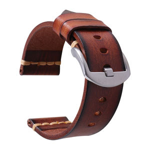 2019 New fashion Genuine leather watch band watch band removable stainless buckle