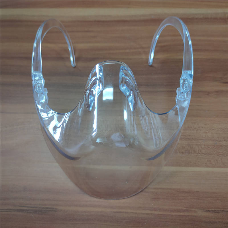Protective glasses mouth protector with glasses frame transparent faceshield visor