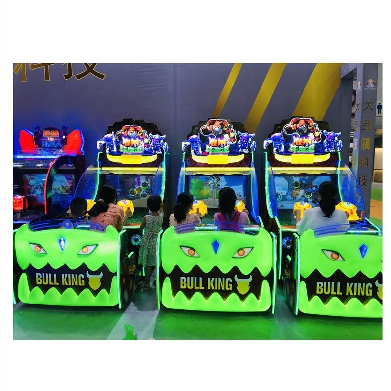 Lottery ticket arcade game machine kids coin operated Hit Beans colorful water shooting gun video game for game center